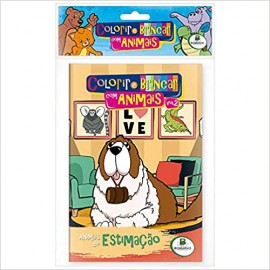 Colorir e Brincar com Animais - Kit 10 Livros