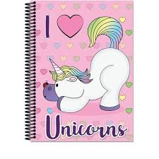 Caderno CD 01x1 96 Fls Unicorns Máxima