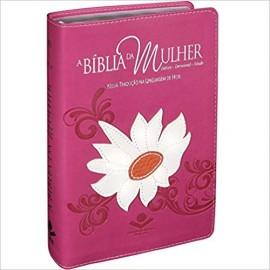 Biblia da Mulher NTLH - Media - Capa Luxo Margarida