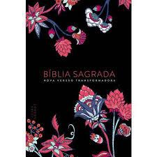 Biblia NVT Flores Preta Capa Dura