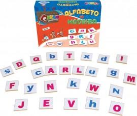 Brinquedo Pedagógico Alfabeto na Madeira 26 Peças