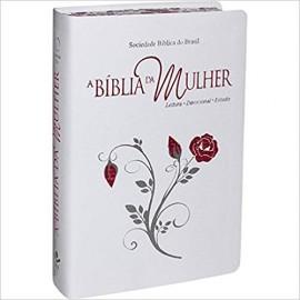 Biblia da Mulher RA - Grande - Capa Luxo Branca