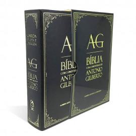 Bíblia com Comentários de Antonio Gilberto - Preta