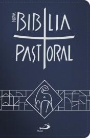 Nova Biblia Pastoral Pequena Bolso Ziper Azul