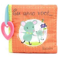 Eu Amo Você Ratinha - Livro de Pano