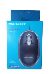 Mouse Optico USB Classic Box 3 Botoes Preto Multilaser