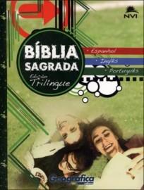 Biblia Trilingue Port. Ing. Esp. NVI Geografica