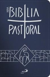 Nova Biblia Pastoral Media Ziper Azul