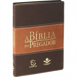 Bíblia do Pregador Luxo Tamanho Grande - Capa Marrom