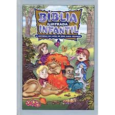 Bíblia Ilustrada Infantil Capa Dura Cor Prata