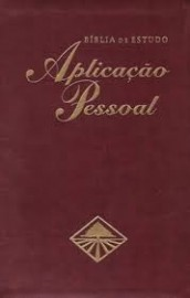 Bíblia de Estudo Aplicação Pessoal Grande Luxo Vinho