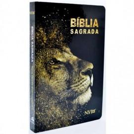 Bíblia NVI - Capa Dura - Leão Dourado