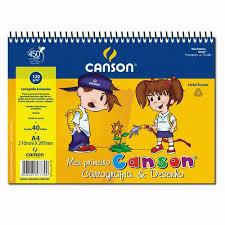 Caderno de Desenho Canson A4 40Fls 140gms