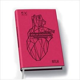 Bíblia NTLH - Fácil de Entender - Rosa - Capa PU Coração