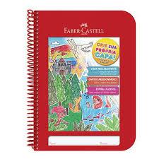Caderno Criativo Faber Castell 96fls Vermelho