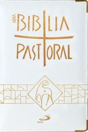 Nova Biblia Pastoral Media Estojo Branco