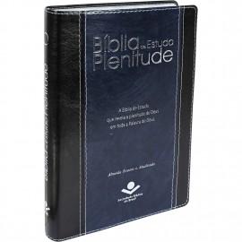 Biblia de Estudo Plenitude RA Capa Preta Luxo Tamanho Grande