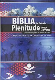 Bíblia de Estudo Plenitude para Jovens NTLH Capa Dura Azul