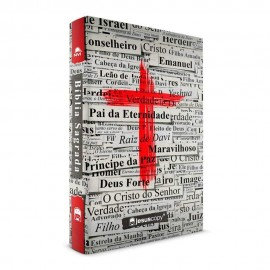Bíblia Jesus Copy - NVI - Capa Dura - Cruz Vermelha