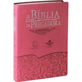 Bíblia da Pregadora Luxo Tamanho Grande - Legno Goiaba