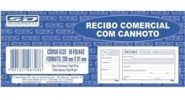 Recibo Comercial c/ Canhoto 50fls Sao Domingos