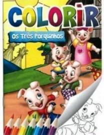 Colorir - Clássicos encantados: Os três porquinhos