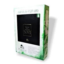 Bíblia de Estudo NVI Capa Luxo Tam GD Preta