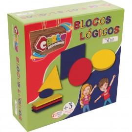 Brinquedo Pedagógico Madeira Blocos Logicos 48PÇ