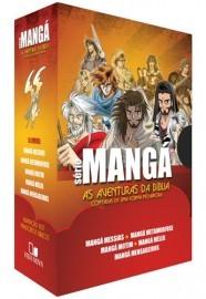 Box Série Mangá as aventuras da Bíblia contadas de uma forma inovadora