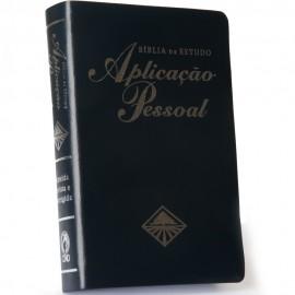 Bíblia de Estudo Aplicação Pessoal Media Capa Luxo Azul