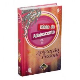 Biblia da Adolescente Aplicacao Pessoal Capa Dura Rosa