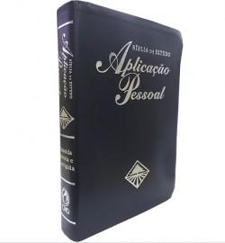 Bíblia de Estudo Aplicação Pessoal Grande Luxo Azul