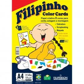 Creative Filipinho Color Cards 120 gramas 24 Folhas