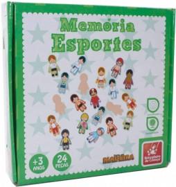 Jogo da Memoria Esportes em Madeira 24 Pcs