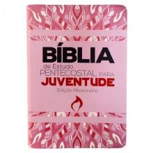 Bíblia de Estudo Pentecostal Para Juventude Capa Rosa