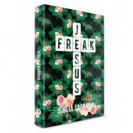Bíblia Jesus Freak - NVI - Capa Dura - Floral Tropical Verde