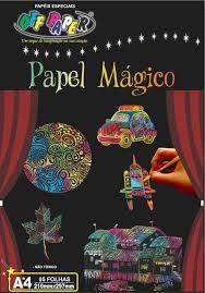 Papel Magico A4 Color Multicolor 5 folhas + Bastao Incluso