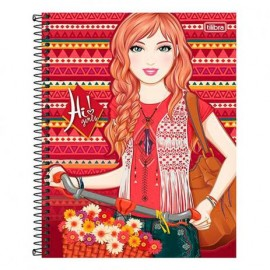 Caderno CD 10x1 200 Fls Hi Girls Tilibra