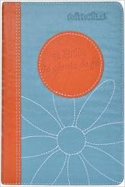 Bíblia da Garota de Fe NTLH - Laranja/Azul