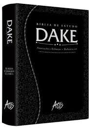 Bíblia de Estudo Dake Grande Luxo Preta Trabalhada