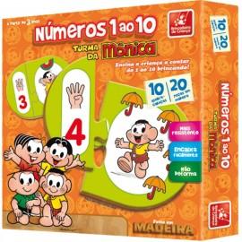 Números Do 1 Ao 10 Turma Da Mônica - Brincadeira de Criança