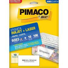 Etiquetas Inkjet+Laser 10 fls Pimaco Código 6083