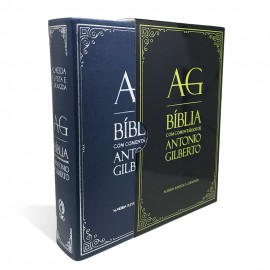 Bíblia com Comentários de Antonio Gilberto - Azul