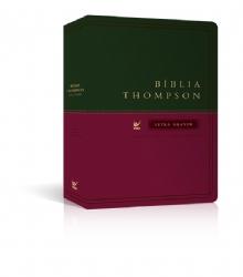 Biblia de Estudo Thompson - Capa Luxo -L. Grande Verde/Vinho