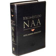 Bíblia de Estudo NAA Capa Couro Sintético Preta