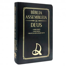 Bíblia Assembleia de Deus - Preta - Logo AD