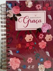 Agenda Maravilhosa Graca 2020 - Grande - Marsala - LV 9408