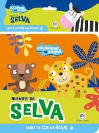 Colorindo no Banho - Animais da Selva - Livro de Banho