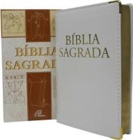 Bíblia Católica NTLH Branca Luxo