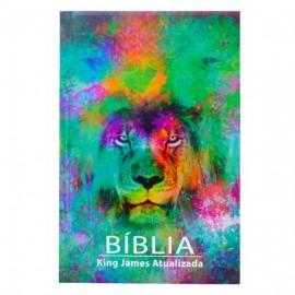 Bíblia King James - Capa Dura - Leão - Aquarela